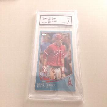 2013 Topps Blue Mike Trout ROY Graded 9  - Ideas of Mike Trout