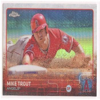 2015 Topps Chrome Prism Refractor Mike Trout  - Ideas of Mike Trout