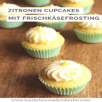Lemony mini cupcakes -  Recipe: Small Lemon Cupcakes with Frosting Cream Cheese. Easy to bake.  -