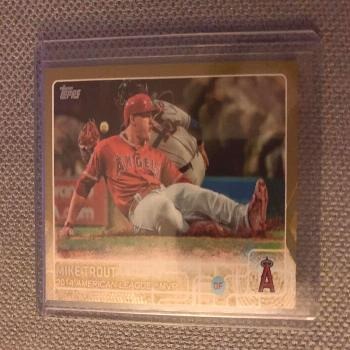 MIKE TROUT 2015 TOPPS SERIES 2 GOLD SP 1706/2015  ANAHEIM ANGELS STAR  - Ideas of Mike Trout