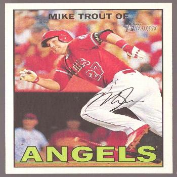 MIKE TROUT 2016 Topps Heritage ACTION IMAGE VARIATON SP Photo VAR 500b MVP  - Ideas of Mike Trout