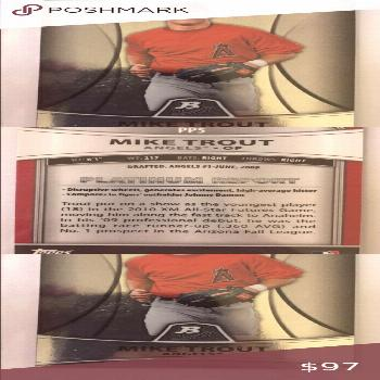 Mike trout angels 2010 card pp5 Mike trout angels 2010 card pp5 topps Accessories