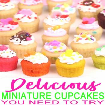 Miniature Cupcakes! Learn how to make diy mini cupcakes from scratch. Easy mini cupcake recipe that