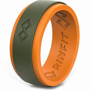 Rinfit Silicone Wedding Ring for Men. Step Edge Design.