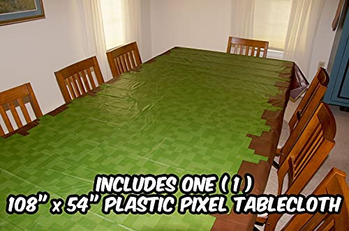 Deluxe Tableware Set for Pixel Mine Crafter Themed Parties